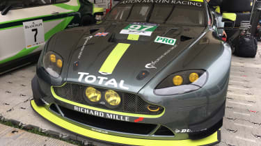 Aston Martin GTE Le Mans car - Goodwood front