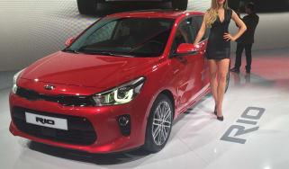 New Kia Rio revealed in Paris 2016 front