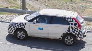 MG ZS spied - side/rear action