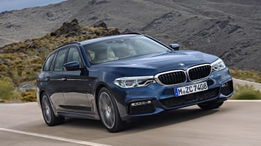 New BMW 5 Series Touring - front action