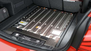 BMW 330e 2016 - boot battery pack