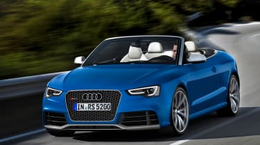 Audi RS5 Cabriolet front tracking