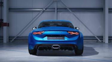 Alpine A110 sports car 2017 - studio rear