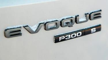 Range Rover Evoque prototype - rear badge