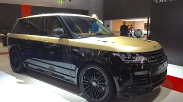 """<span face=""""Calibri, Verdana, Helvetica, Arial"""">Mansory is well known for modifying Range Rovers and its latest car caused quite a stir at Frankfurt – not least of where Mansory's stand was. While Jaguar Land Rover was proudly showing"""
