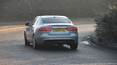 Jaguar XE Portfolio petrol 2016 - rear cornering