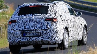 Volkswagen Polo SUV - spy shot rear tracking