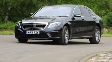 Mercedes S-Class - front cornering