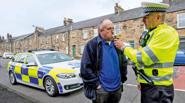 Police Scotland drink-driving feature - breathalyser