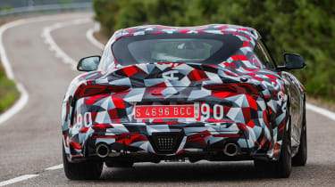 Toyota Supra prototype - rear tracking