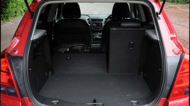 The standard boot space is only 356-litres with rear seats in place.