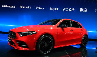 New 2018 Mercedes A-Class red front