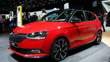Skoda Fabia facelift - Geneva front