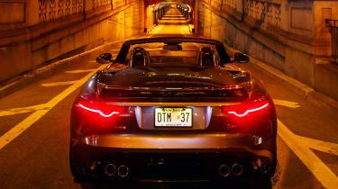 Jaguar F-Type SVR Tunnel Run - rear