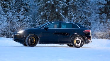 Porsche Cayenne Coupe spied - side