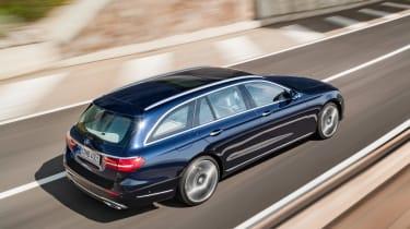 Mercedes E-Class Estate - blue rear tracking