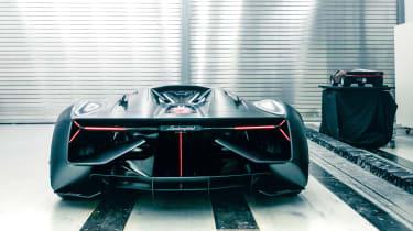 Lamborghini Terzo Millennio - full rear garage