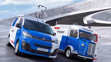 Citroen Disptach and H van Le Coq Sportif