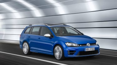 Golf R Estate front driving
