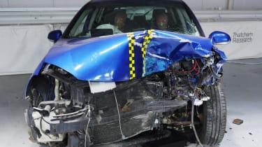 Rusty NCAP-style test crunched bonnet