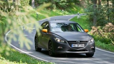 Mazda SKYACTIV-X prototype - front cornering