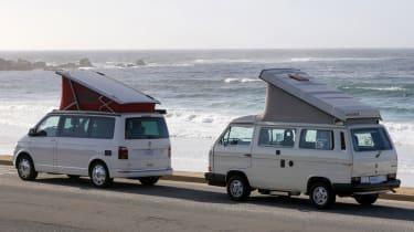 Volkswagen California roof up
