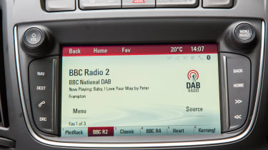 Vauxhall Zafira Tourer 2016 screen