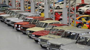SEAT's Zona Franca plant - car storage