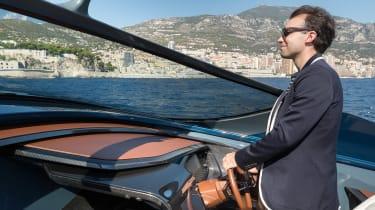 Aston Martin AM37S boat - James Batchelor action