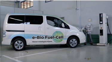 Nissan e-Bio Fuel Cell prototype vehicle fuelling