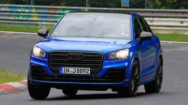 Audi SQ2 spy shots - front cornering