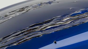 Petersen Automotive Museum  - Lexus RC 500 f sport Black Panther - claw marks up close