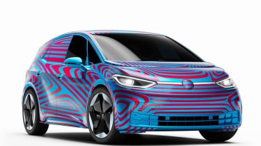 Volkswagen ID.3 camouflaged - front 3/4 static