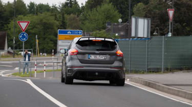 Ford Focus RS500 mule back far
