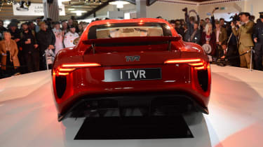 TVR Griffith reveal - full rear