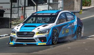 Subaru WRX STI - Isle of Man TT action