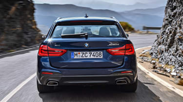New BMW 5 Series Touring - full rear action