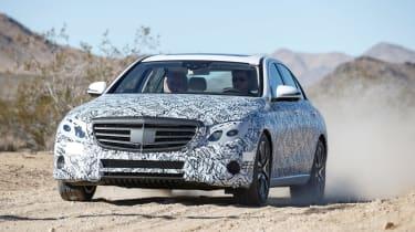 Mercedes E-Class development car front action