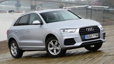 Audi Q3 group test - front quarter