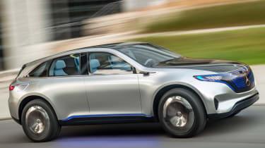 Mercedes EQ electric SUV - side tracking