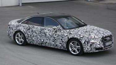 Audi A8 facelift front three quarter