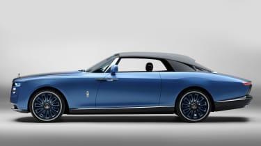 Rolls-Royce Boat Tail - side studio roof up