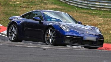 New Porsche 911 cornering