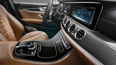 Mercedes E-Class interior side black/brown