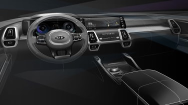 Kia Sorrento - sketch - interior