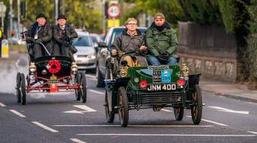 London to Brighton Veteran Car Run  -  front tracking