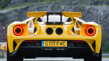 Ford GT Norway road trip - tail-lights