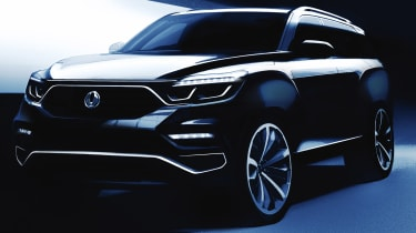 Ssangyong y400 Rexton teaser