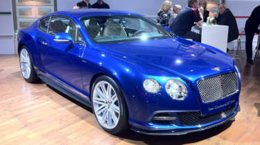 Bentley Continental GT Speed on the show stand