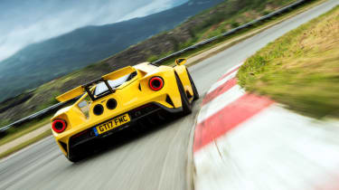 Ford GT Norway road trip - right hand turn